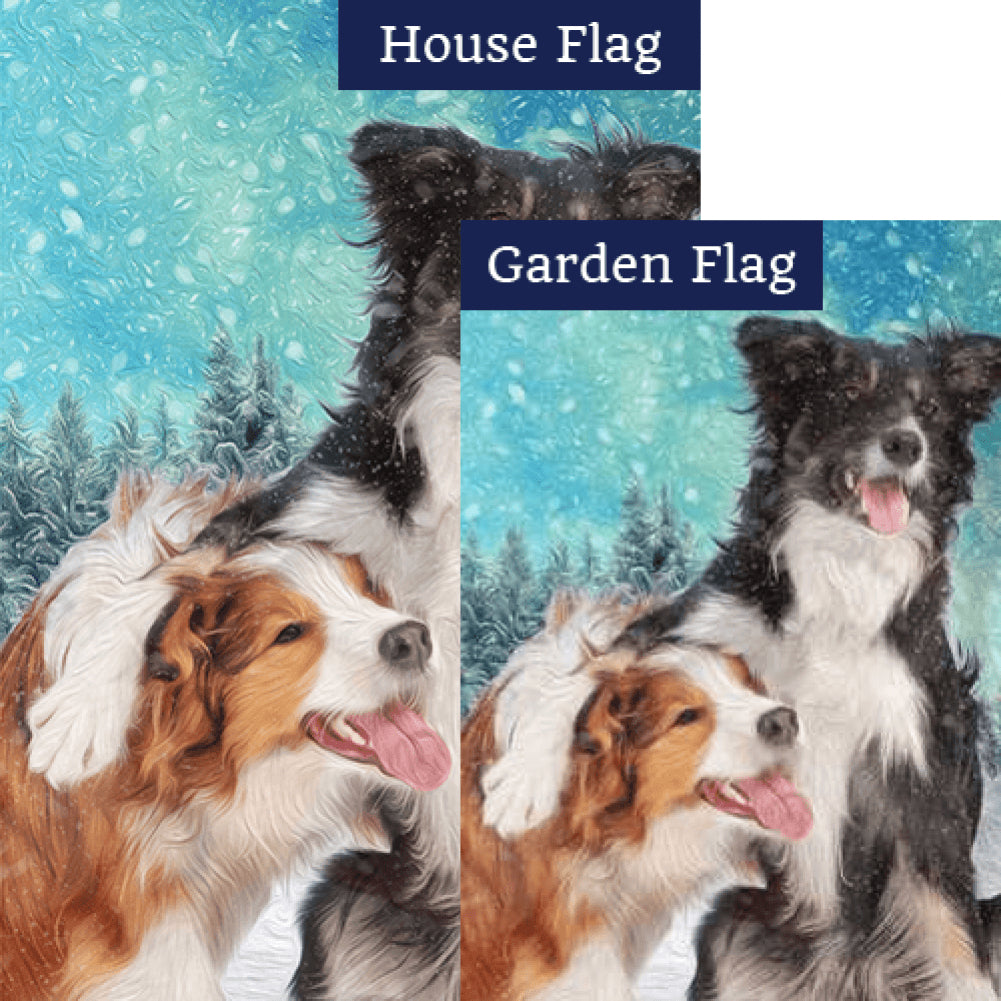 Catching Snowflakes Flags Set (2 Pieces)