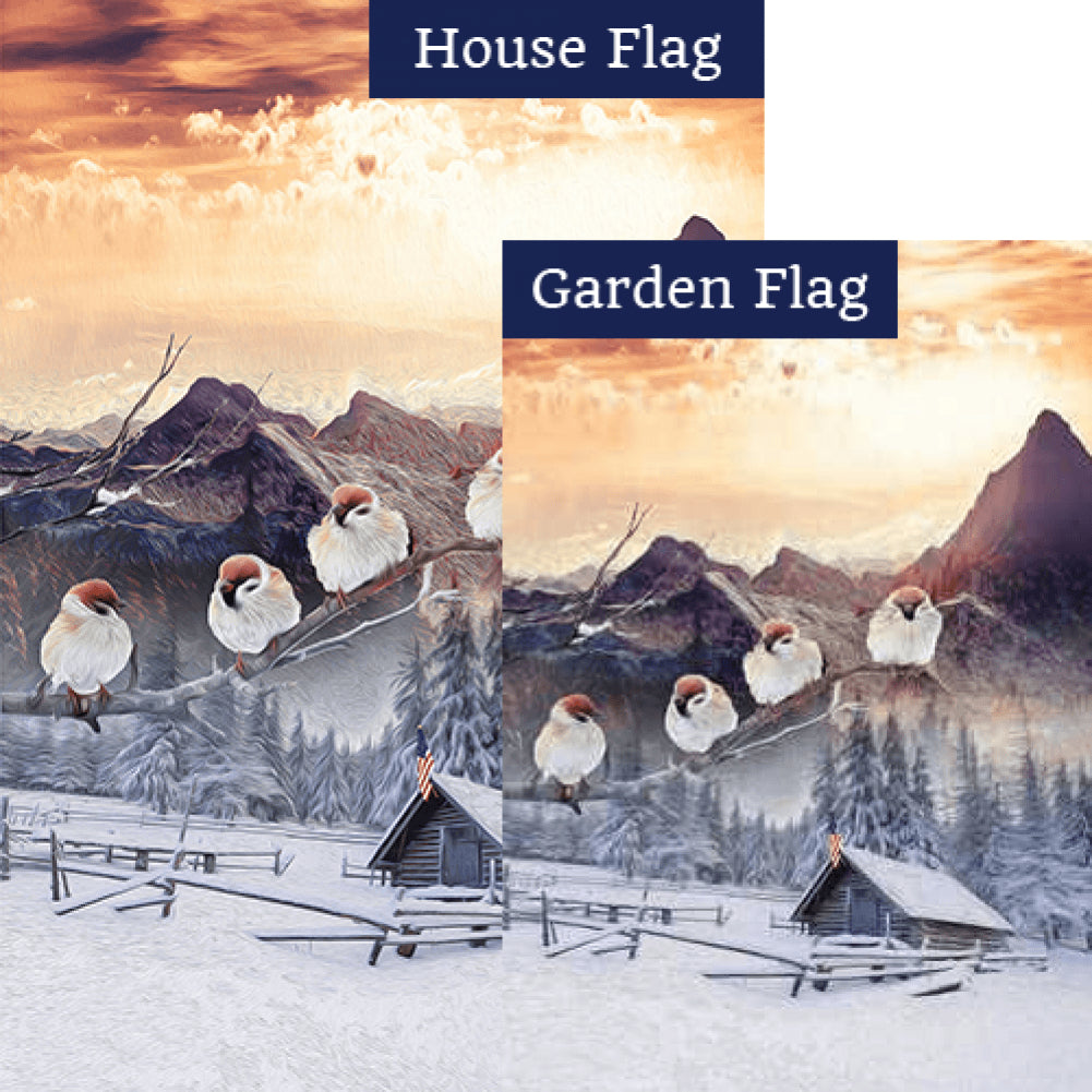 Winter In The Mountains Flags Set (2 Pieces)