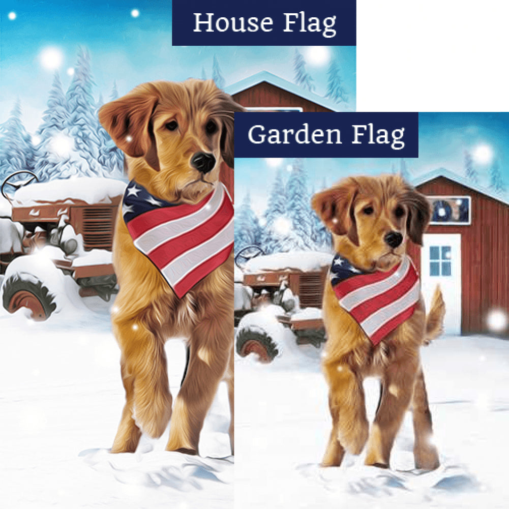 Patriotic Farm Dog Flags Set (2 Pieces)
