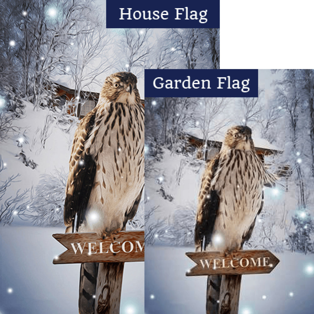 Winter Hawk Flags Set (2 Pieces)