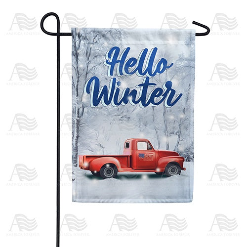 Winter Travels Double Sided Garden Flag