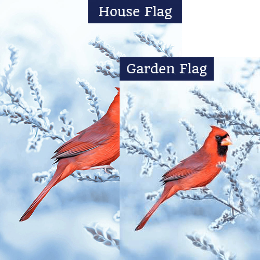 Winter Red Beauty Flags Set (2 Pieces)