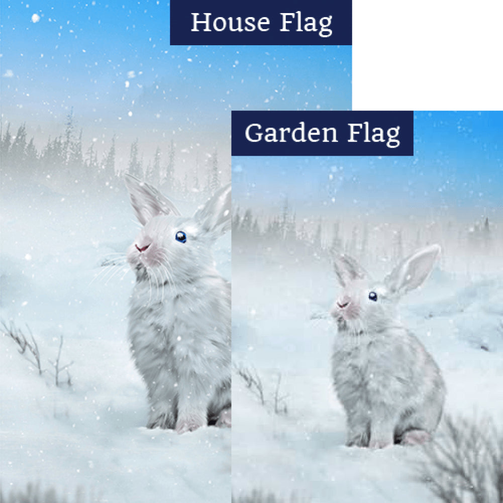Snow White Rabbit Flags Set (2 Pieces)