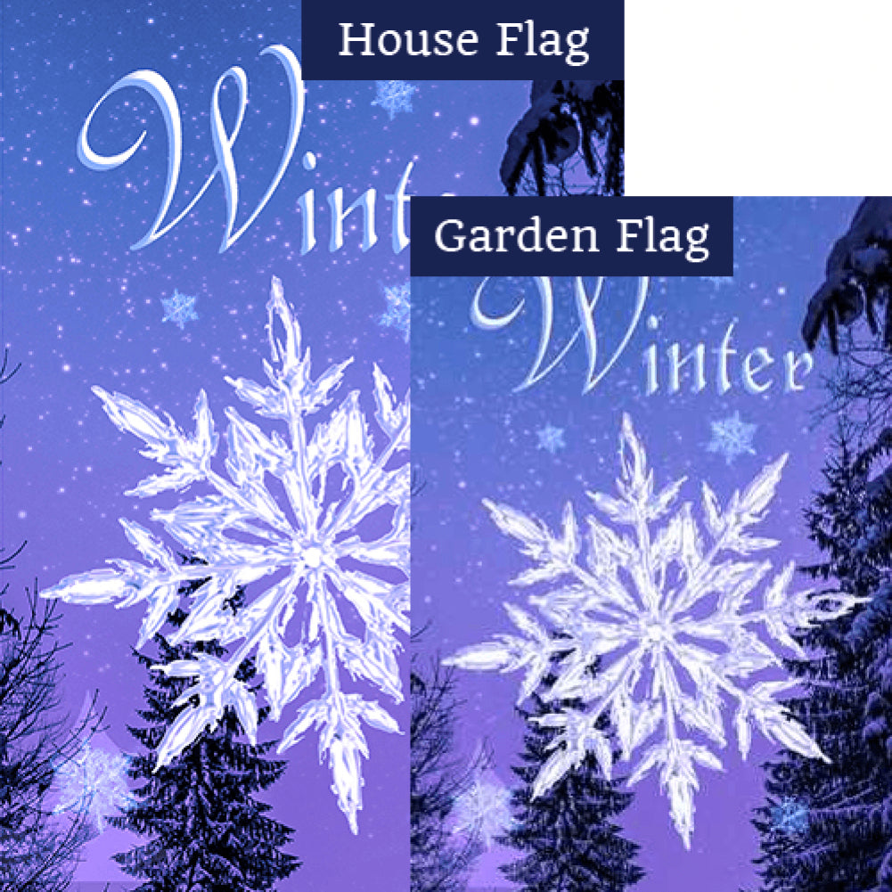 Crystal Snowflake Flags Set (2 Pieces)