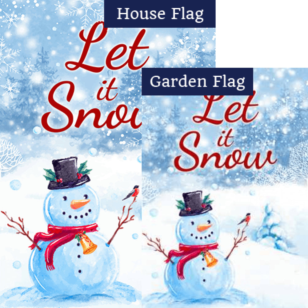 Let It Snow, Snowman Flags Set (2 Pieces)