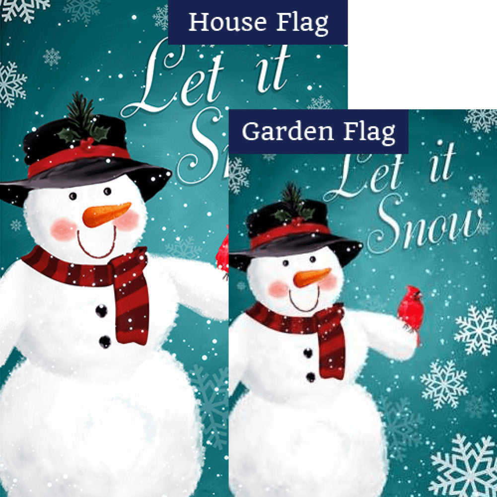 Snowman & Feathered Friend Flags Set (2 Pieces)