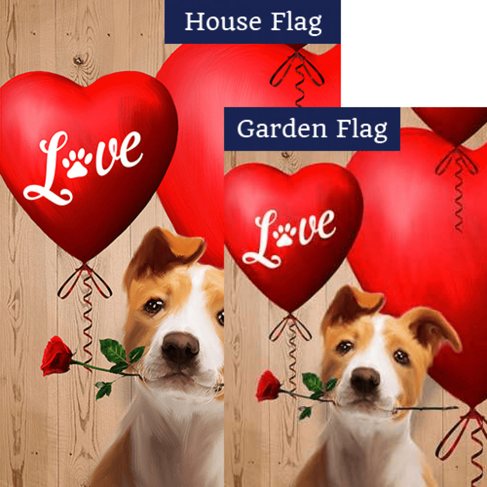 Puppy Love Heart Flags Set (2 Pieces)