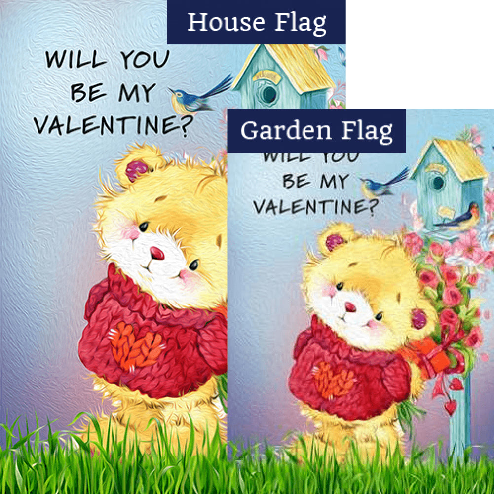 Be My Valentine? Flags Set (2 Pieces)