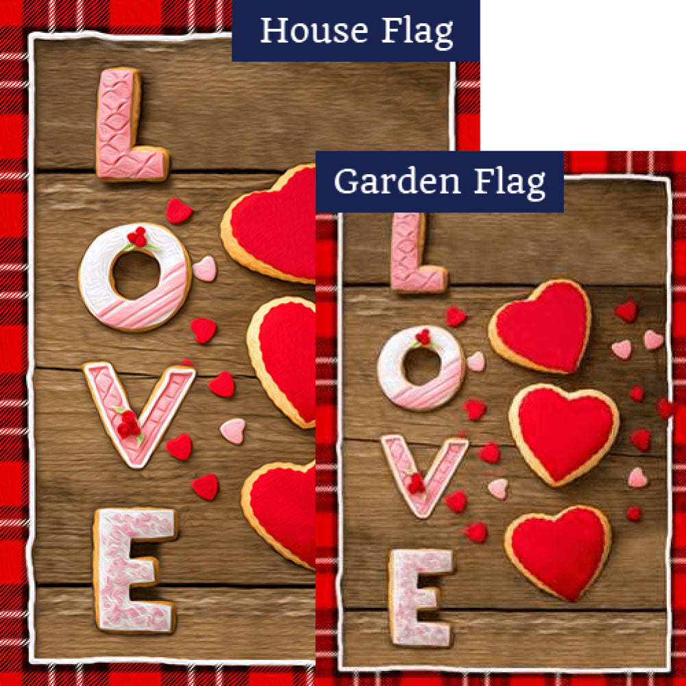 Baked With Love Flags Set (2 Pieces)