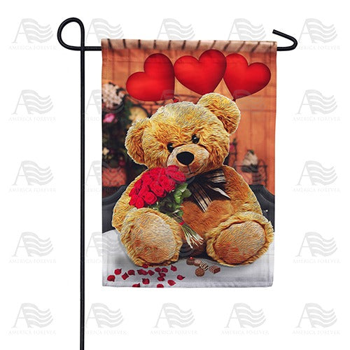 Tender Loving Teddy Double Sided Garden Flag