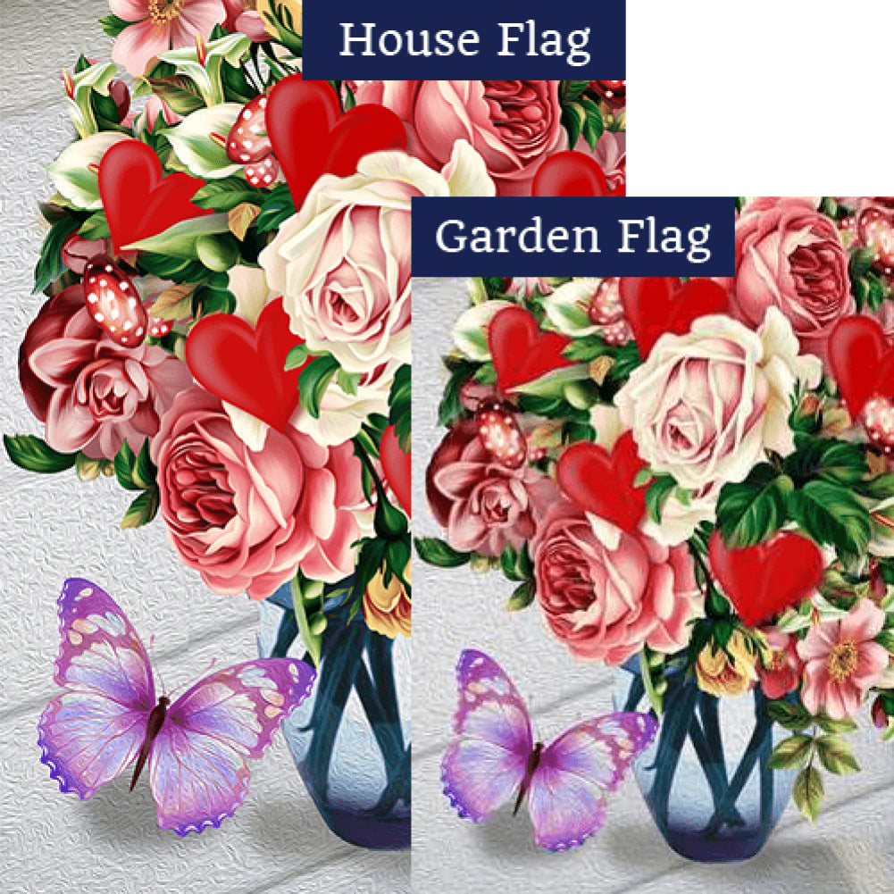 Love In Full Bloom Flags Set (2 Pieces)