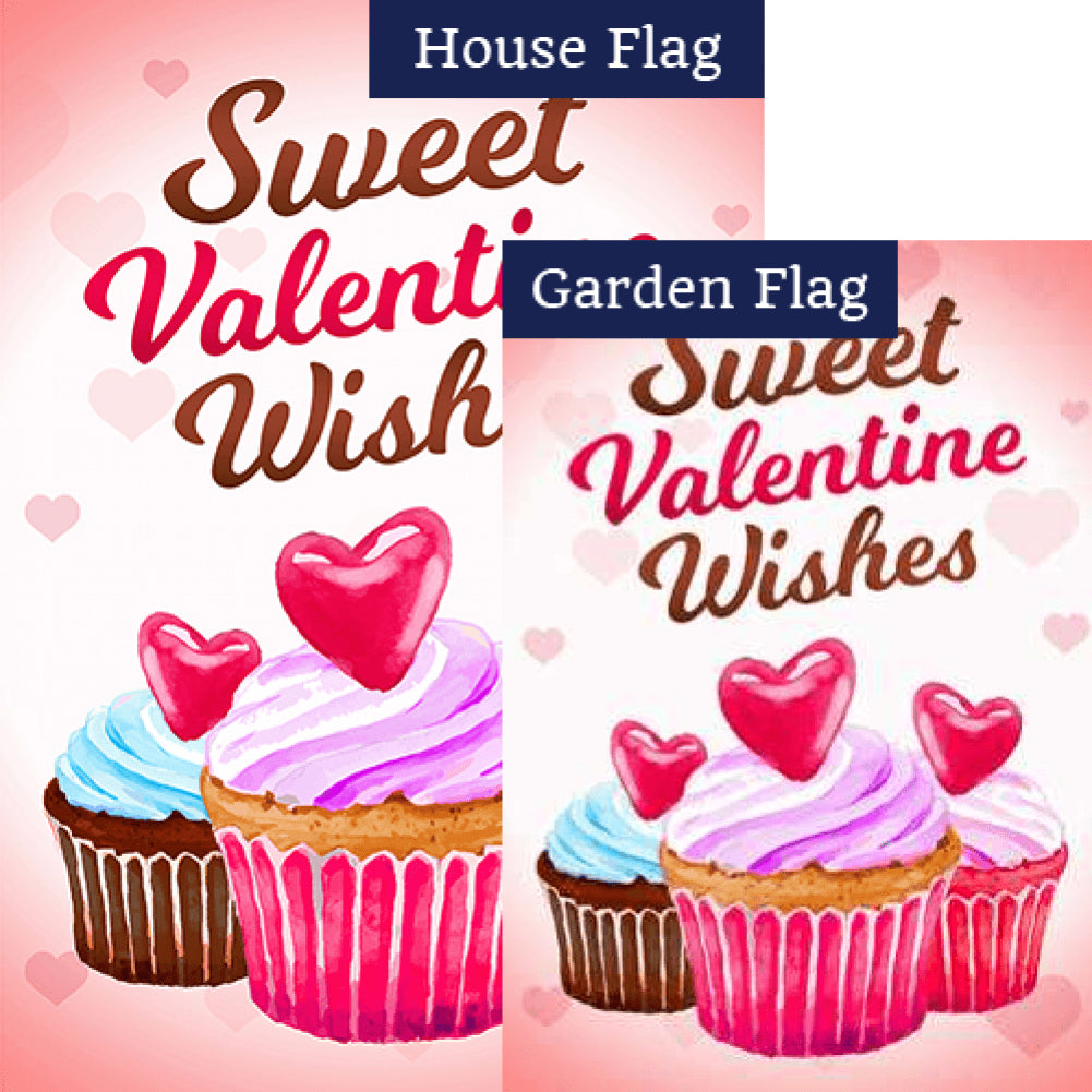 Sweet Valentine Wishes Flags Set (2 Pieces)
