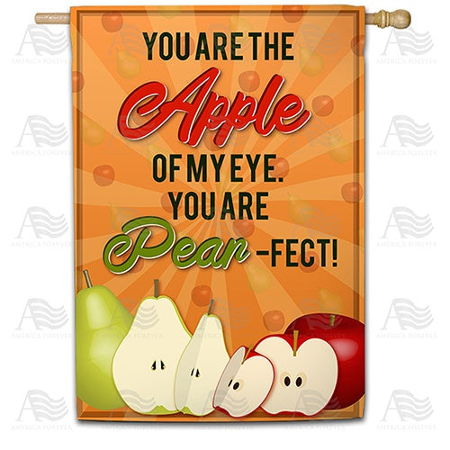 Apples & Pears Double Sided House Flag