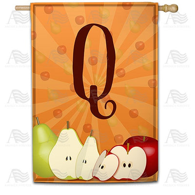 Apples & Pears Monogram Double Sided House Flag