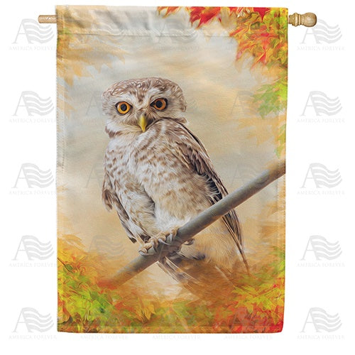"""Owl"" See You In The Fall Double Sided House Flag"