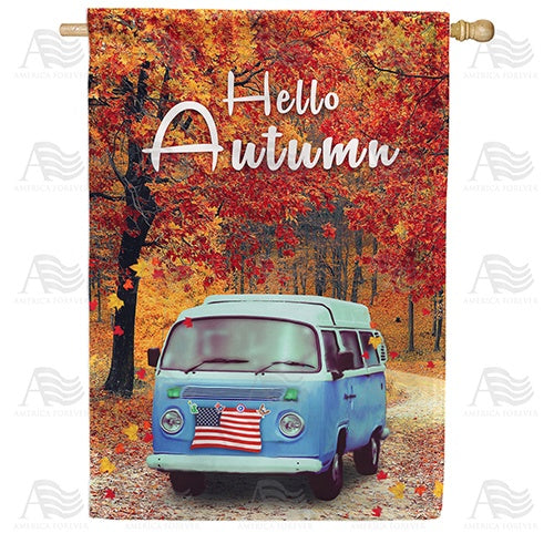 Autumn Drive Double Sided House Flag
