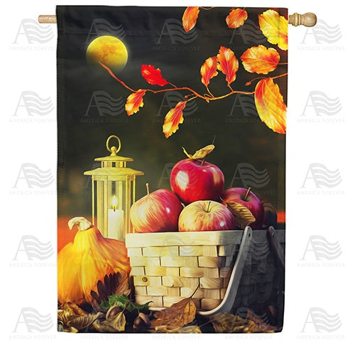 Fall Night Harvest Double Sided House Flag
