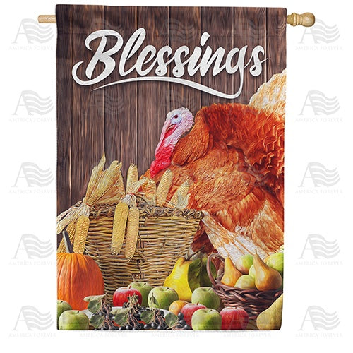 Abundant Blessings Double Sided House Flag