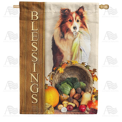 Blessings Of Companionship And Food Double Sided House Flag