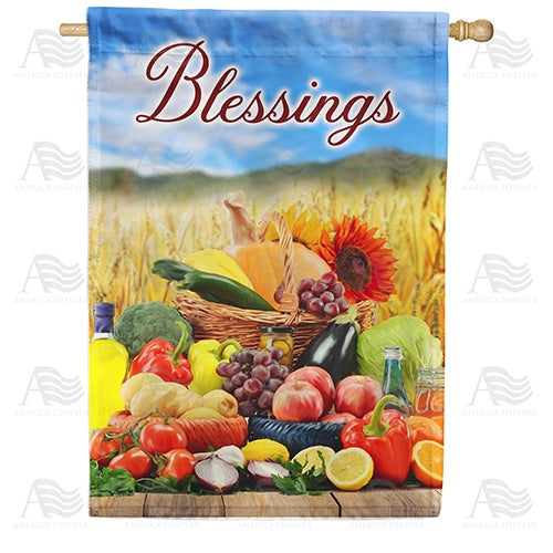 Mother Earth's Many Blessings Double Sided House Flag