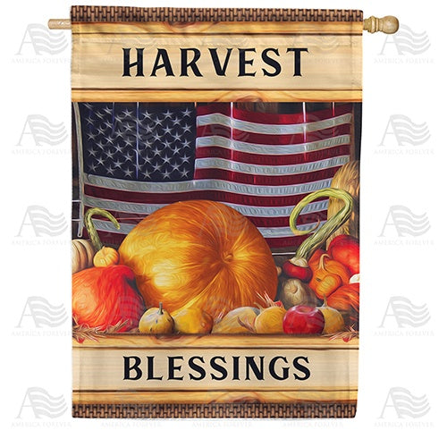 American Harvest Double Sided House Flag