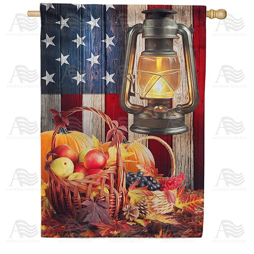 Harvest Glow Double Sided House Flag
