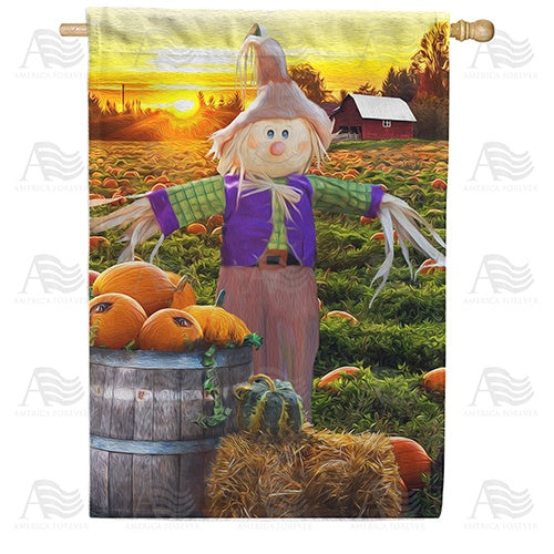 Smiling Scarecrow Double Sided House Flag