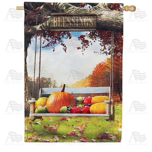 Harvest Blessings Swing Double Sided House Flag