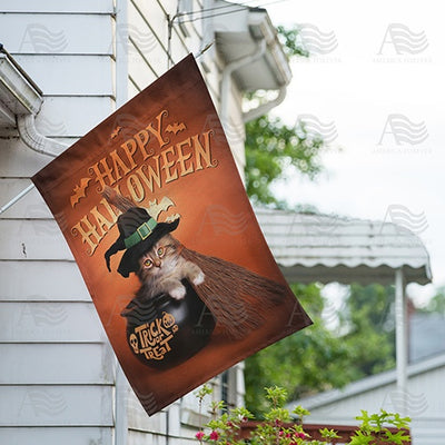 Too Cute To Spook Double Sided House Flag