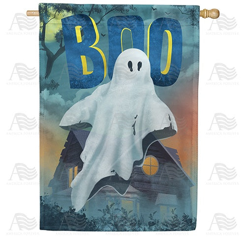 """Boo""berry Ghost Double Sided House Flag"