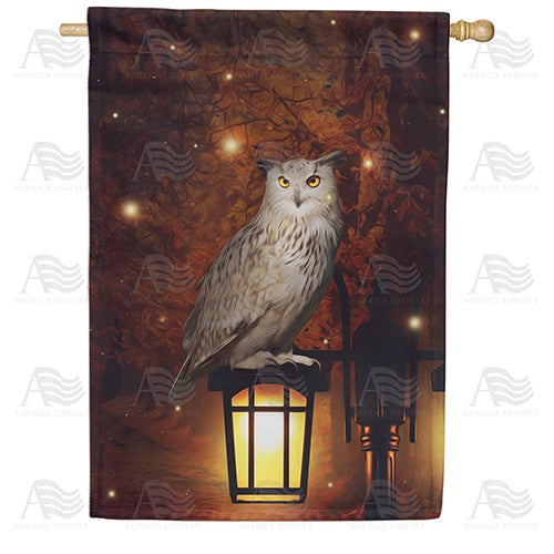 Hoot Goes There? Double Sided House Flag