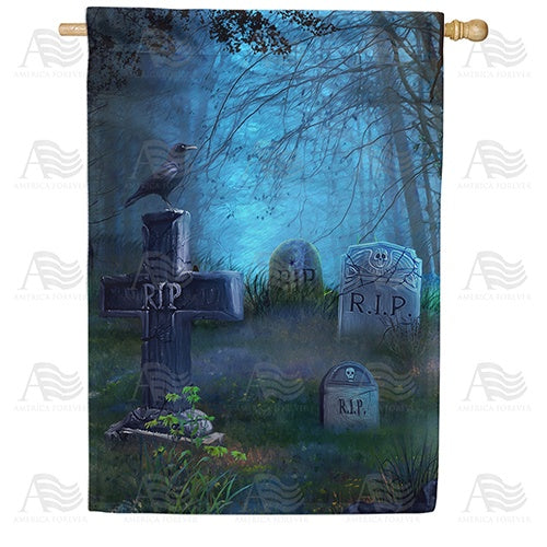 Bone Chilling Graveyard Double Sided House Flag