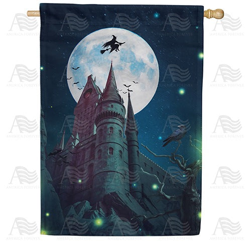 A Haunting We Will Go Double Sided House Flag
