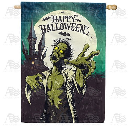 Green Zombie Double Sided House Flag