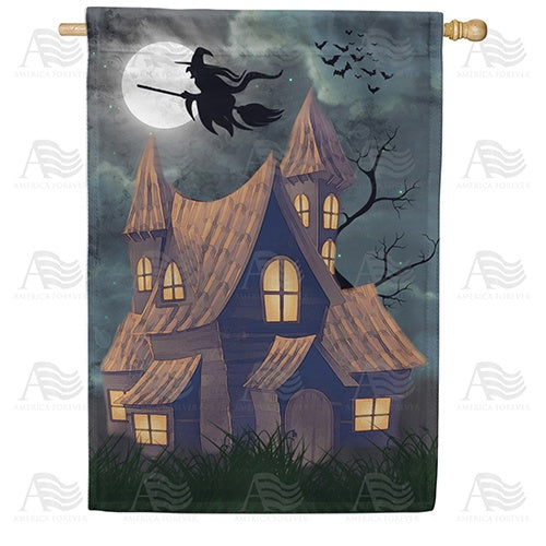 Beware The Witching Hour Double Sided House Flag