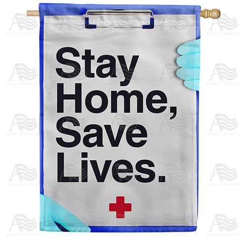 Stay Home, Stay Alive Double Sided House Flag