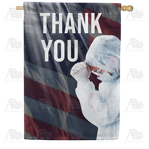 America Says Thank you Double Sided House Flag