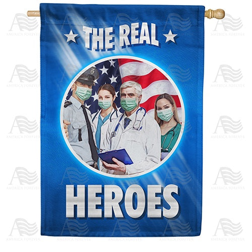 The Real Masked Heroes Double Sided House Flag