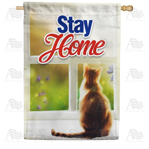 Lives - Cat 9, You ONLY 1 Double Sided House Flag