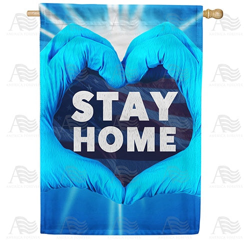 It's In Your Hands America - Stay Home Double Sided House Flag