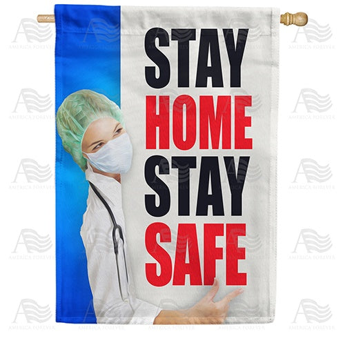 Spread The Word, Not The Virus Double Sided House Flag