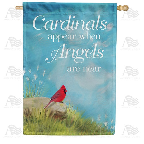 Angels Are Near Double Sided House Flag