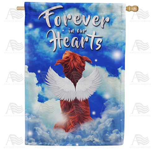 Angelic Dog Double Sided House Flag
