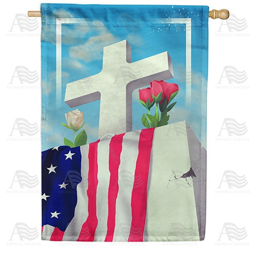 Patriotic Memorial Double Sided House Flag