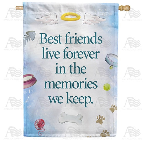 Pet Memories Double Sided House Flag