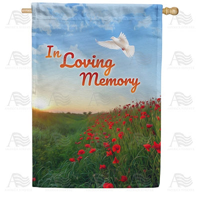 In Loving Memory (Dove) Double Sided House Flag