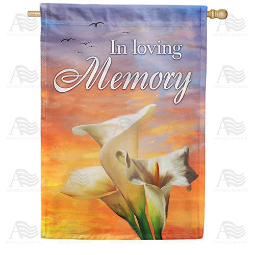 In Loving Memory (Lilies) Double Sided House Flag