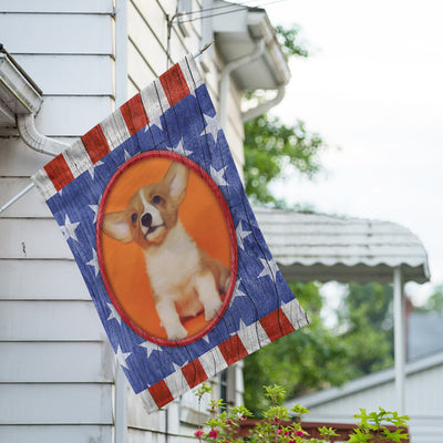 Personalized All American Old Wood House Flag