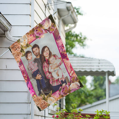 Personalized Rosie Pink House Flag