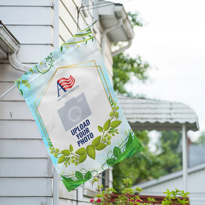 Personalized Rose Greenery House Flag